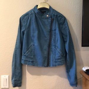 Forever 21 Jean Moto Jacket